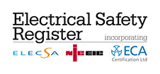 DP Electrics Ltd is on the Electrical Safety Register [ NICEIC, ECA, ELECSA]